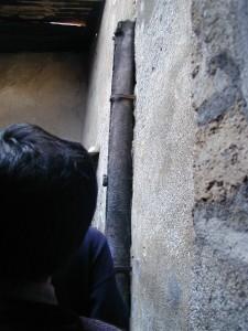家庭に配管される水道管